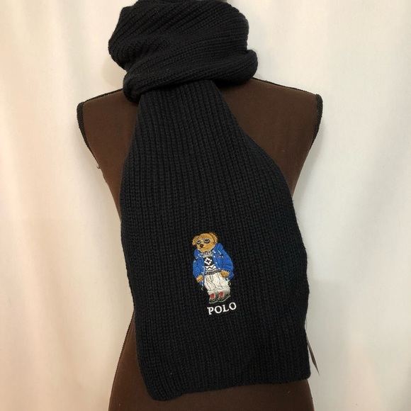 b6e36a07f7f23 POLO RALPH LAUREN Men s Ski Polo Bear Scarf